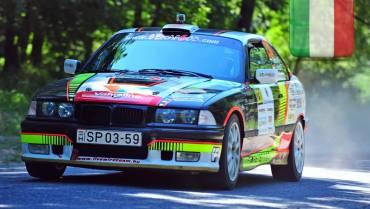 Racing car in the sunny Tuscan